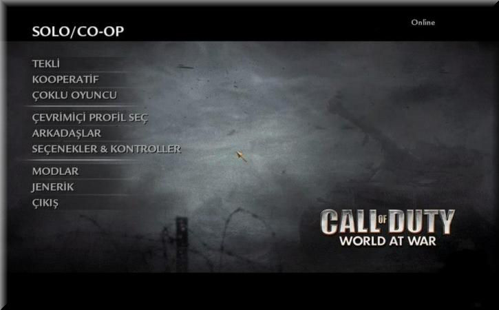 Call of Duty 5 World at War Türkçe Yama