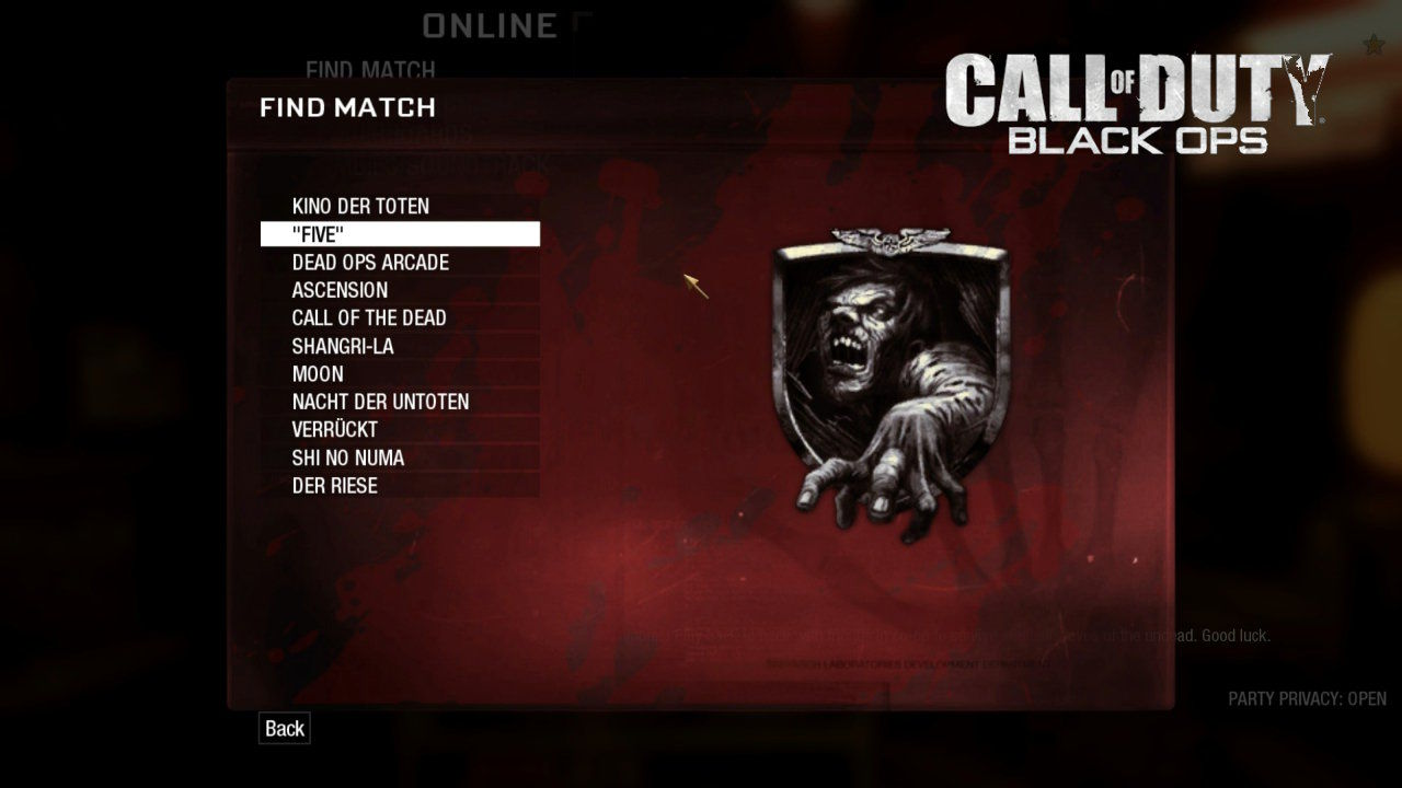 Call Of Duty Black Ops Zombie Maps
