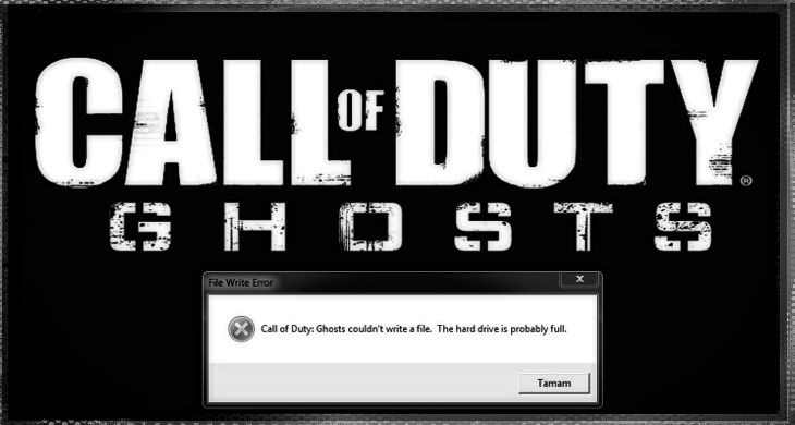 Codghosts Couldnt Write A File The Hard Drive Is Probably Full Hatasi